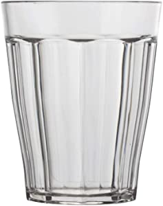 Rhapsody 8-ounce Faceted Plastic Juice Tumblers | set of 8 Clear