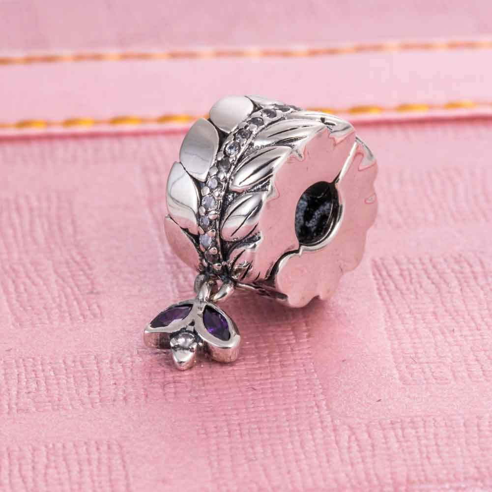 A Original 925 Sterling Silver Charms Clip Lock Spacers Stopper Charm Beads for Bracelets