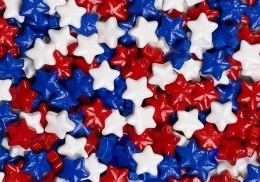 Set of 2 America Fourth of July Red White /& Blue Star Candy Resin Coasters