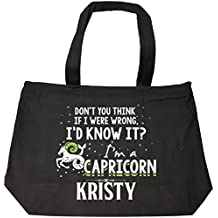 I'd Know It I'm A Capricorn Woman Named Kristy Gift - Tote Bag With Zip