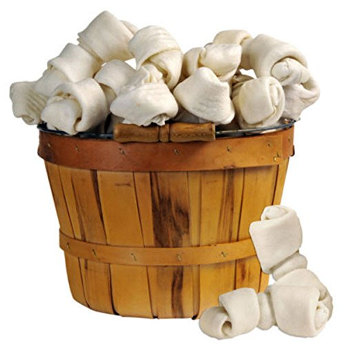 Image of Monster Hide 100% Premium Rawhide Knotted Bone 5-5.5in (10-Pack)