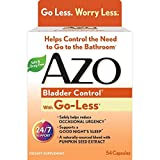 AZO Bladder Control with Go-Less Dietary Supplement, Pumpkin Seed Extract, Soy Germ Extract, GMO Free, Gluten Free, Yeast Free, Synthetic Color Free, 54 Count