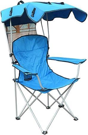 WBHD Silla de Camping Plegable con sombrilla Silla Playa NiñO ...