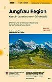 3323T Jungfrau Region Wanderkarte: Kiental - Lauterbrunnen - Grindelwald (Wanderkarten 1:33 333)