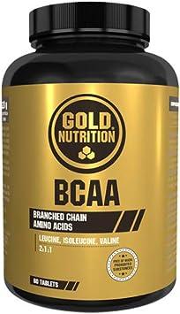 Goldnutrition BCAAs, 60 comprimidos, Conservar Masa Muscular ...