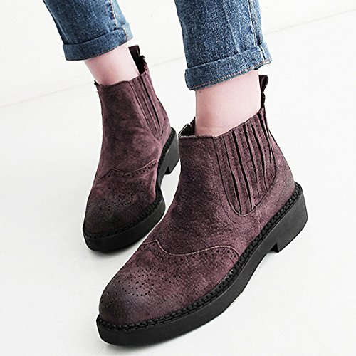 NSXZ Winter leather round head Martin boots leisure elastic ankle boots COFFEECOLOR-90160CM l6ercMN