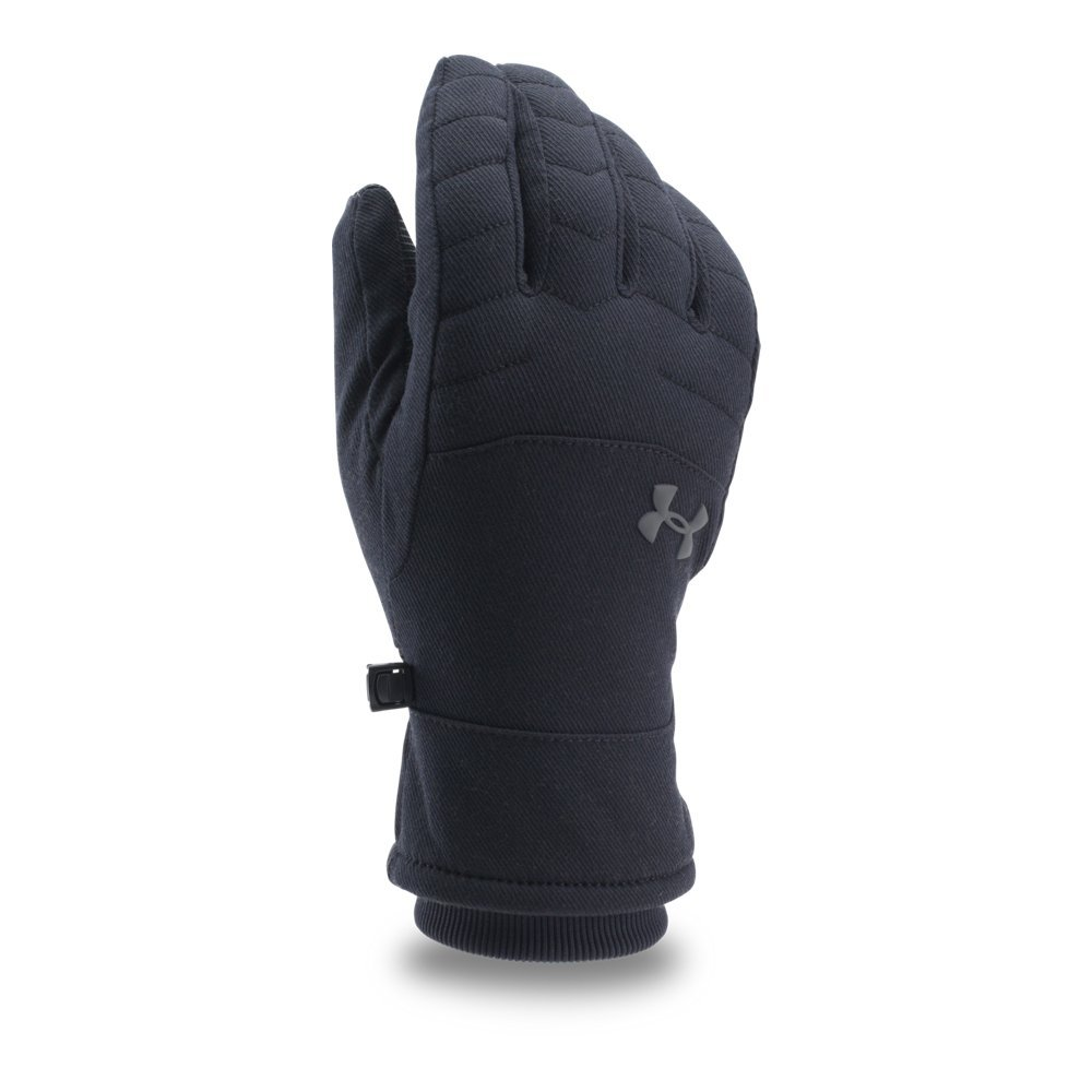 Under Armour Men's Reactor Quilted Gloves, Black (001)/Graphite, Small/Medium