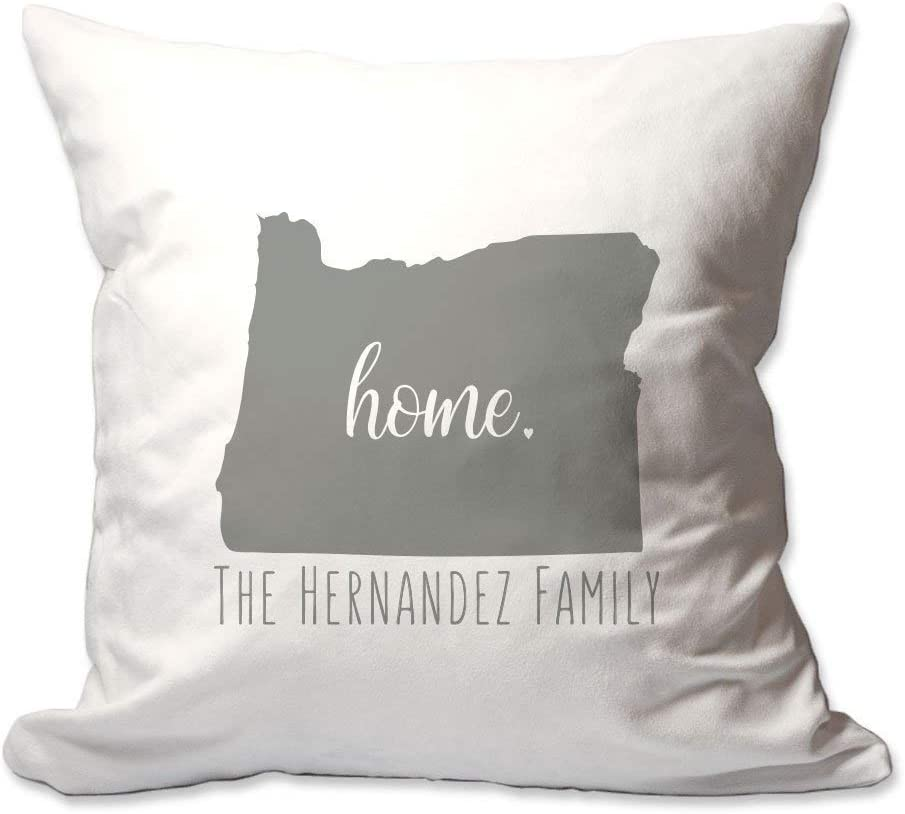 Pattern Pop Personalized State of Oregon Home Throw Pillow Cover - 17X17 Throw Pillow Cover (NO Insert) - Decorative Throw Pillow Cover - Soft Polyester