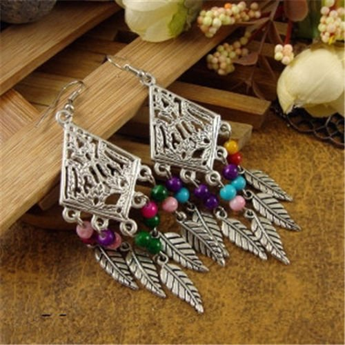 (1set New Chic Fashion Womens Jewelry Ethnic Style Type Ear Stud Earrings Gift)