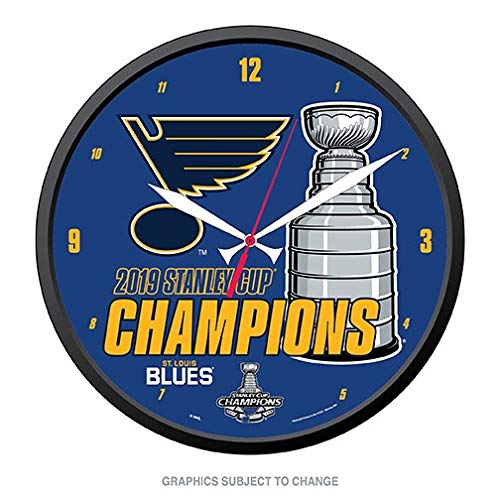 Wincraft Clock - WinCraft St. Louis Blues 2019 Stanley Cup Champions Round Wall Clock