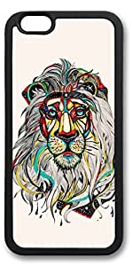 iPhone 6 Cases, Personalized Custom Soft Black Edge Case Cover for New iPhone 6 4.7 inch Lion Color