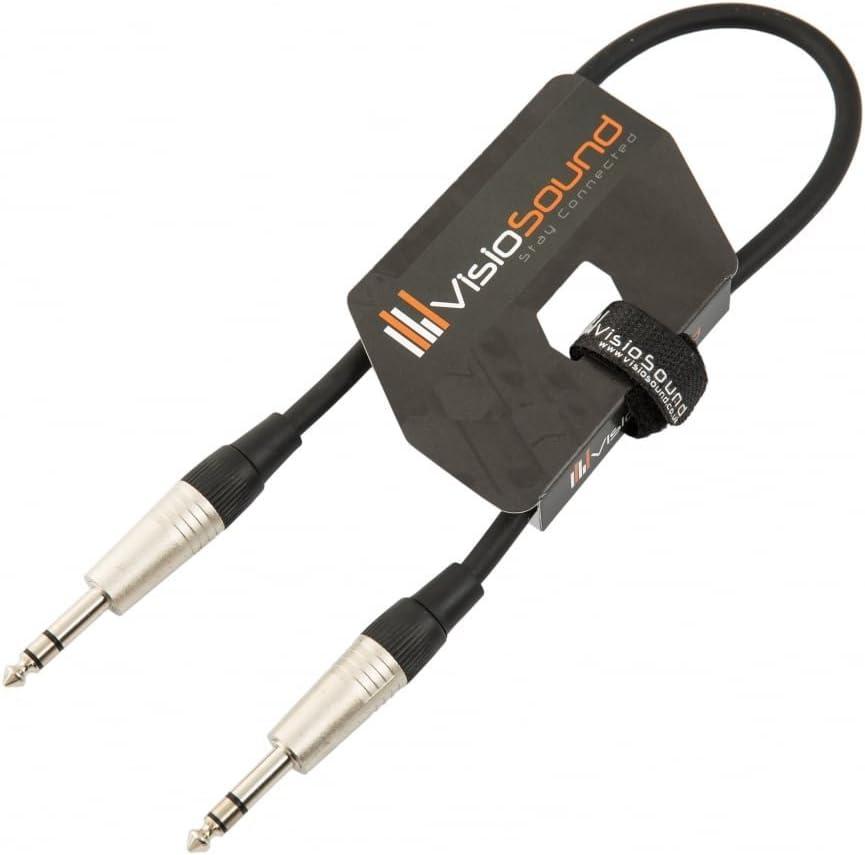 6,3mm Stereo Klinke auf 6,3mm Stereo Klinke//Symmetrisches Signal//Audio//Patchkabel 6m Schwarz