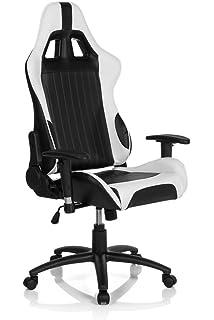 hjh OFFICE Monaco II Sillón de Oficina, Piel_sintética, (Black/White),…