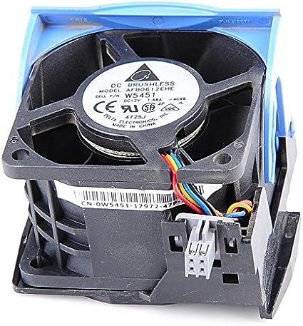 Ventilador Dell 0W5451 0H2401 Carcasa ventilador Rack 4 pines PowerEdge 2850 R510 R515: Amazon.es: Electrónica