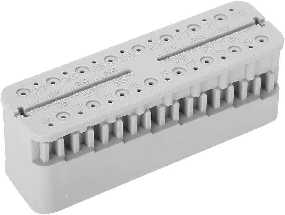 Dental-Blockfeilen Messwerkzeuge Endodontisches Lineal Testbrett grau SunshineFace Dentalwurzel-Testbrett