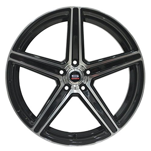 SPEC-1 Racing SP-8 Gloss Black Machined Wheels
