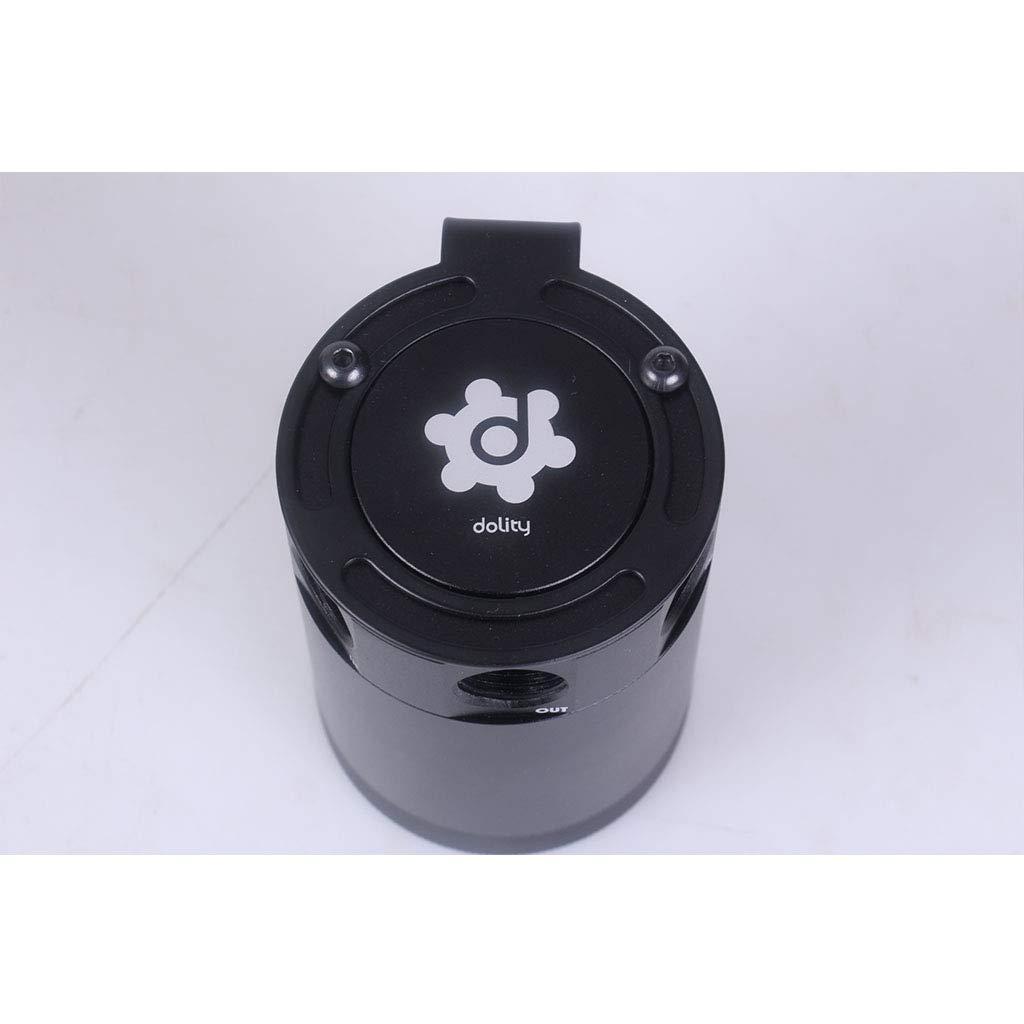 D DOLITY Universal 3-Port Oil Catch Can Tank Engine Air Oil Separator Tank Reservoir Kit Black 3//8 NPT 2 Fluid Ounces Oil Capacity