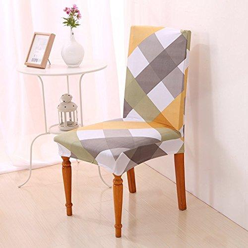 Jellbaby impresion elastico Silla para sillas Media Cubierta Tapa de Silla Silla de Oficina Ordenador Stretch, Elastano, Cross Strips, Talla un