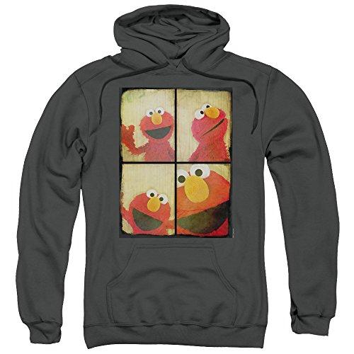 A&E Designs Elmo Photo Booth Hoodie, Charcoal, XL
