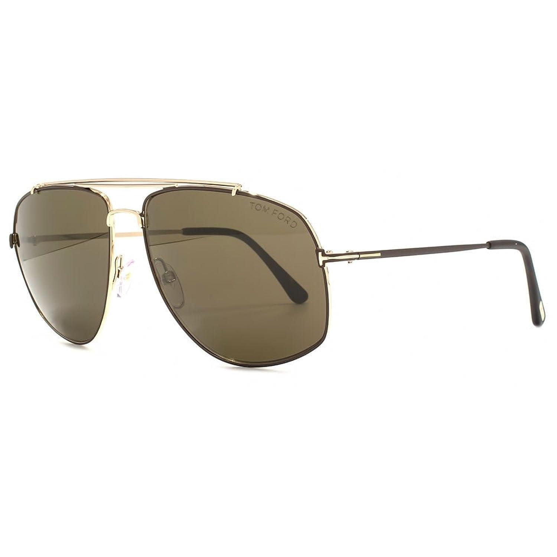 Sunglasses Tom Ford GEORGES TF 496 FT 28J shiny rose gold / roviex