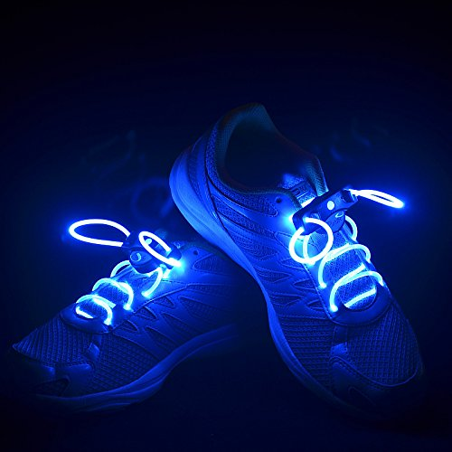 Flammi LED Shoelaces Light Up Shoe Laces with 3 Modes in 5 Colors Flash Lighting the Night for Party Hip-hop Dancing Cycling Hiking-type A (Led Necklace)