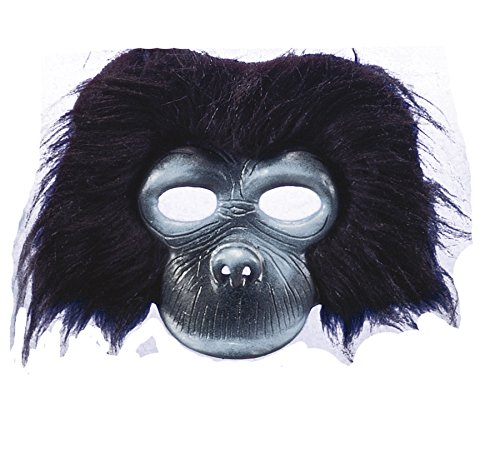 UHC Men's Plush Gorilla Theme Party Adult Halloween Costume Mask Accessory (Plush Gorilla Mask)