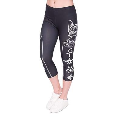 Pantalones De Yoga Mujeres De Verano Capri Estampado ...