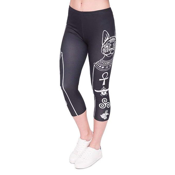Pantalones De Yoga Mujeres De Verano Leggings Moda Capri ...