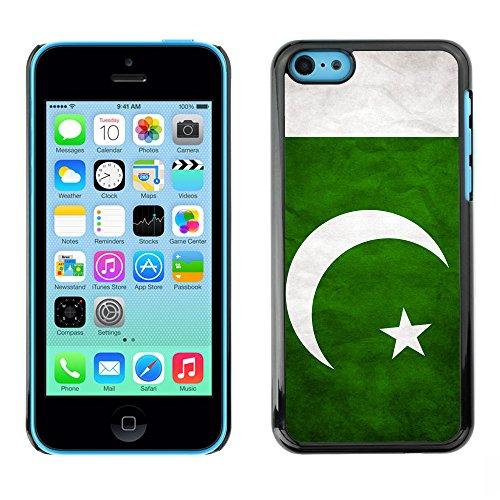 Omega Case PC Polycarbonate Cas Coque Drapeau - Apple iPhone 5C ( Pakistan Grunge Flag )