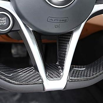 Fydun Car Interior Steering Wheel Decorative Decor Cover Trim for Alfa Romeo Stelvio//Giulia