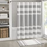 Madison Park Spa Waffle Shower Curtain With 3M Treatment - Water Repellent & Stain Resistant - Grey - 72(W) X 72(L) - Machine Washable