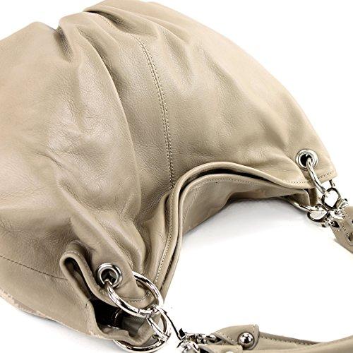 l'épaule porter à Made femme Italy pour Helltaupe à Sac 0Twwgvqx7