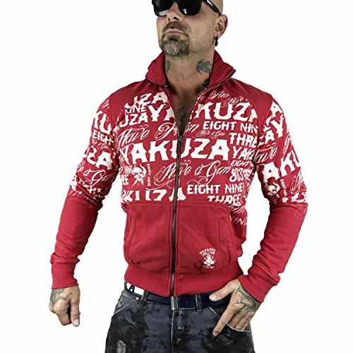 Mezza Yakuza Giacche Allover Stagione Rosso Uomo Giacca Label vtHT16q