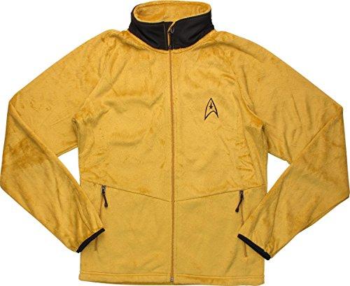 Star Trek Command Gold Fleece Zipped Jacket,