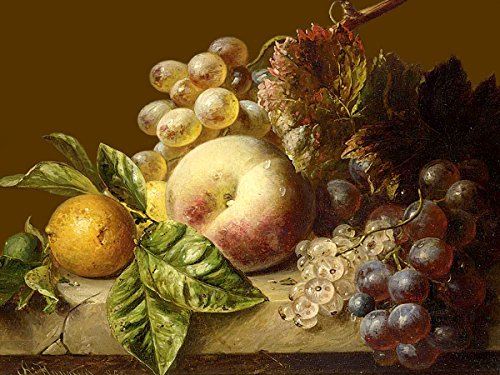 Still Life Vegetable - A STILL LIFE WITH GRAPES by Adriana-Johanna Haane Accent Tile Mural Kitchen Bathroom Wall Backsplash Behind Stove Range Sink Splashback One Tile 8