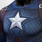 Short Sleeve 3D Print T-Shirt for Men's Captain