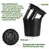 Garden Planter Pot 2-Piece Plastic Container for