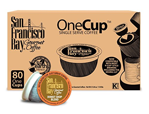 San Francisco Bay OneCup, 80 Count - Single Serve Coffee, Compatible with Keurig K-cup Brewers