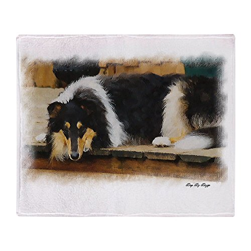(CafePress Tri Color Collie Soft Fleece Throw Blanket, 50