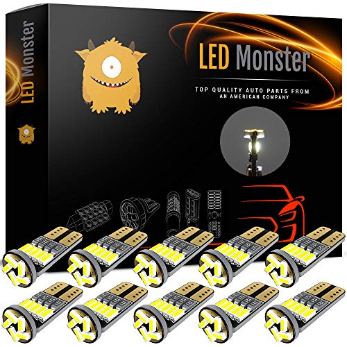 LED Monster 10x 194 Led Light Bulbs For Rv Camper Trailer Dome Map Door Courtesy License Plate - Direct Fit For T10 2825 194 168 W5W - Super Bright White - Chevrolet G10 1968 Van