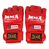 MMA Muay Thai Boxing Training Gloves Half Mitt (Red)