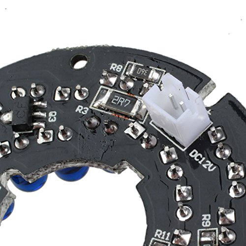 SODIAL Infrared 36 IR LED Light Board for CCTV Security Cameras 850nm Night vision Diameter 54mm