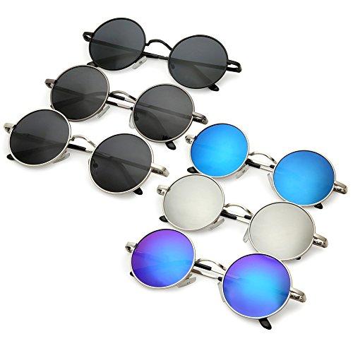 18f55c7820 Joopin-Round Retro Polaroid Sunglasses Driving Polarized Glasses Men  Steampunk