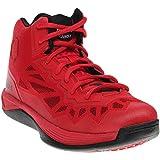 AND 1 Men's Fantom 2-M Basketball Shoe, Fabric Red/Black/White, 7 M US