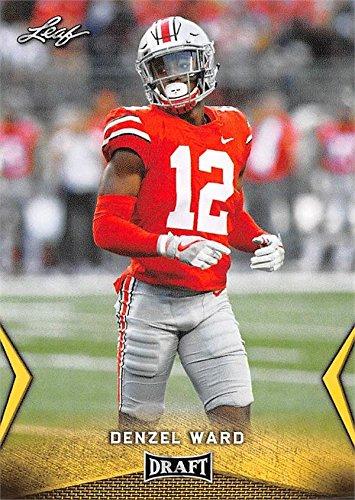 Denzel Ward Football Card Ohio State Buckeyes Cleveland Browns Leaf Draft Gold
