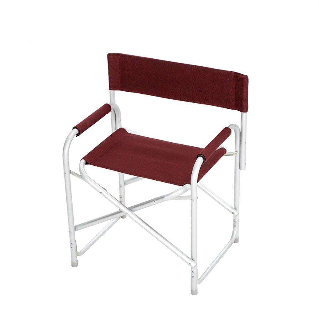 ベンチ 折りたたみ椅子アルミ屋外2.62KGポータブルキャンプ釣りビーチチェア (A++) (色 : ワインレッド) B07DD8ZCG2  ワインレッド
