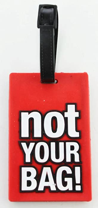 47116e318db6 Amazon.com: Red Rubber Luggage Tag - Not Your Bag Luggage Tag ...