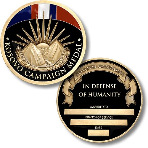 - Kosovo Campaign Medal Coin - Engravable Challenge Coin