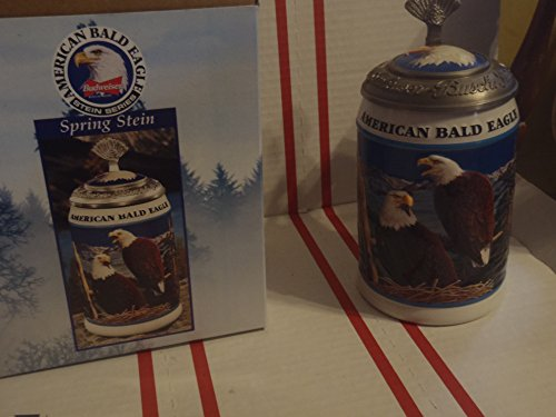 1999 LIMITED EDITION BUDWEISER LIDDED AMERICAN BALD EAGLE SERIES STEIN CS365 - SPRING STEIN