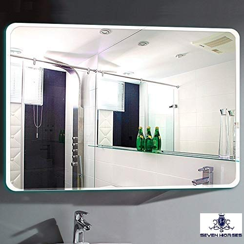 Seven Horses Glass Wall Mirror 30 X 24 Inch White Buy Online In India At Desertcart In Productid 116459197